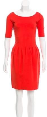 Pink Tartan Short Sleeve Mini Dress