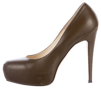 Brian Atwood Leather Platform Pumps $95 thestylecure.com