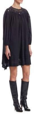 Etoile Isabel Marant Rita Cotton Embroidered Shift Dress