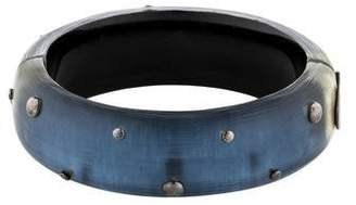 Alexis Bittar Large Studded Lucite Bangle