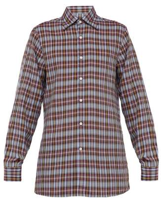 Dunhill Checked Long Sleeved Shirt - Mens - Blue Multi