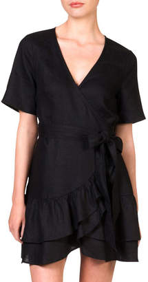Skin and Threads Wrap frill dress