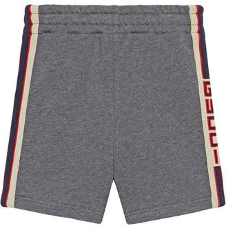Gucci Kids Baby short with jacquard trim