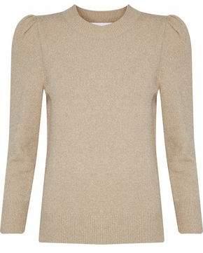 Co Metallic Stretch-Knit Sweater