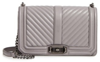 Rebecca Minkoff 'Chevron Quilted Love' Crossbody Bag - Grey $295 thestylecure.com
