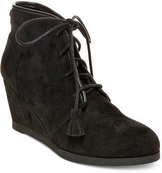 Madden Girl Dally Lace-Up Wedge Booties $59 thestylecure.com