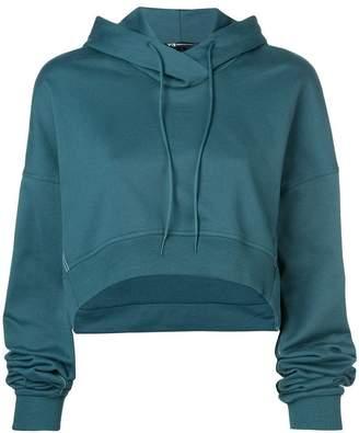 Y-3 cropped 'Love' hoodie