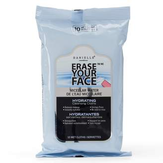 Danielle Creations Erase Your Face Micellar Water Hydrating Cleansing Cloths - Travel Size