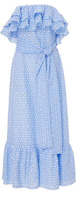 Lisa Marie Fernandez Sabine Ruffle Eyelet Dress