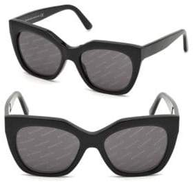 Balenciaga 52MM Soft Square Sunglasses