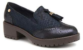 Xti Women's Rounded toe Loafers in Blue - Synthetic - UK 4 / EU 37