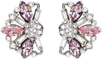 Ben-Amun Silver & Pink Crystal Earrings