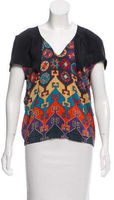 Alexandre Herchcovitch Printed Silk Top