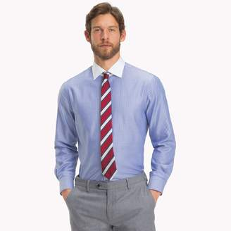 Tommy Hilfiger Cotton Dobby Stripe Dress Shirt