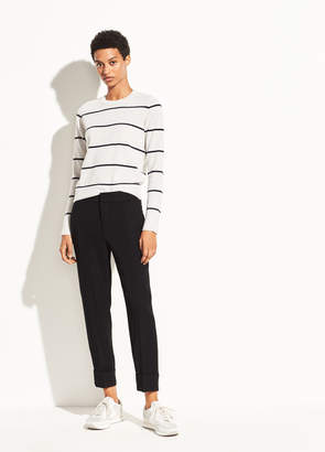 Cuffed Crepe Suiting Trouser
