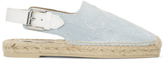 Stella McCartney Blue Denim Stars Slingback Espadrilles