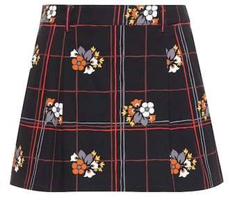 Miu Miu Printed denim miniskirt