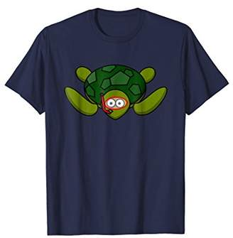 Sea turtle with snorkel and mask t-shirt