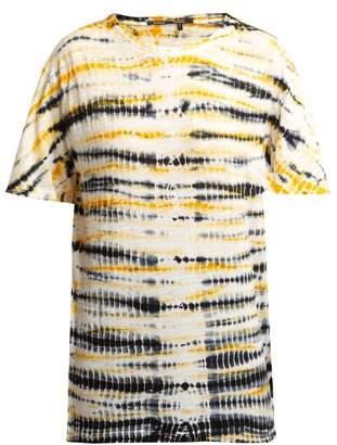 Proenza Schouler - Tie Dye Cotton T Shirt - Womens - Black Yellow