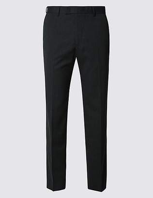 M&S Collection Big & Tall Charcoal Slim Fit Trousers