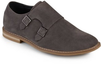 Daxx Men's Double Monk Strap Round Toe Faux Leather Shoes