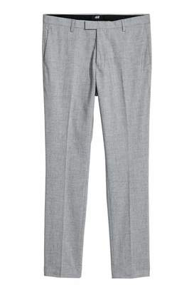 H&M Suit Pants Skinny fit - Gray melange - Men