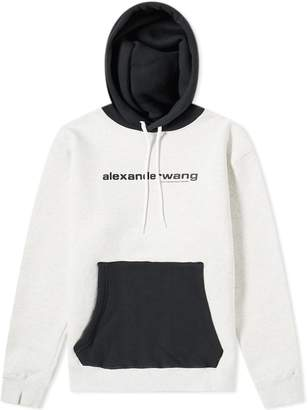 Alexander Wang Two Tone Logo Hoody