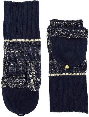MICHAEL Michael Kors Marl Metallic Striped Convertible Mittens Extreme Cold Weather Gloves