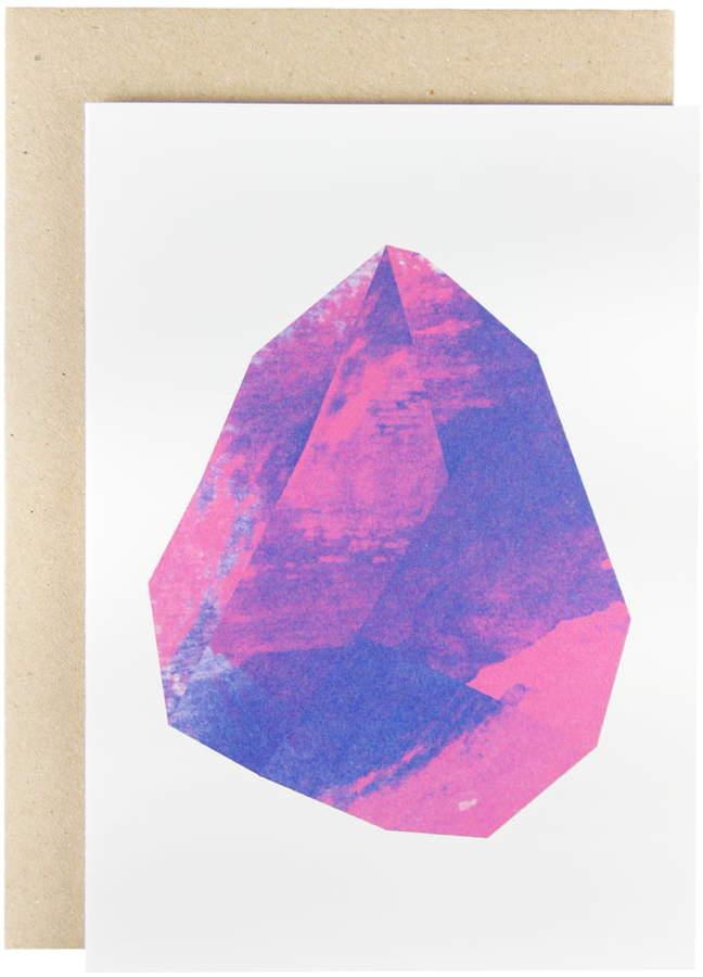 Karte Design Fabrik Karte - Make Like Paper Grußkarte, magenta