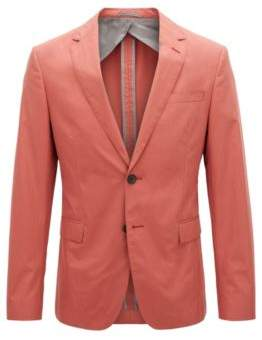 BOSS Hugo Slim-fit blazer in paper-touch cotton poplin 38R Open Red
