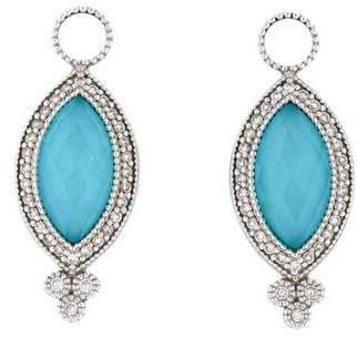 Jude Frances 18K Diamond, Turquoise and Quartz Earring Charms