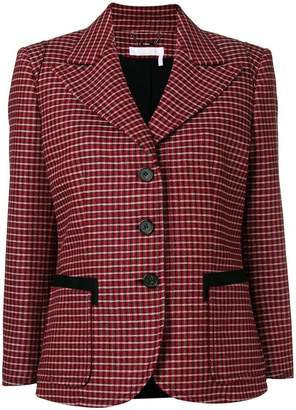 Chloé plaid single-breasted blazer
