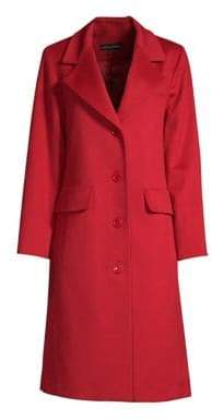 Sofia Cashmere Wool Cashmere Button Front Coat