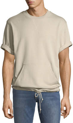 Wesc Men's Madison Spring-Fleece Short-Sleeve Sweatshirt