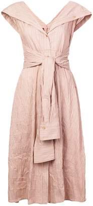 Sies Marjan pinstripe flared shirt dress