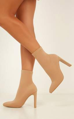 dbce3edcf4e Showpo Billini - Edie boots in camel lycra - 7 Billini