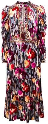 Ulla Johnson disco print tie neck midi dress