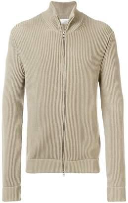 Maison Margiela ribbed knit zipped jacket