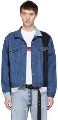 Gosha Rubchinskiy Navy Levis Edition Patchwork Jacket