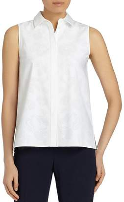 Lafayette 148 New York Jared Perforated Blouse