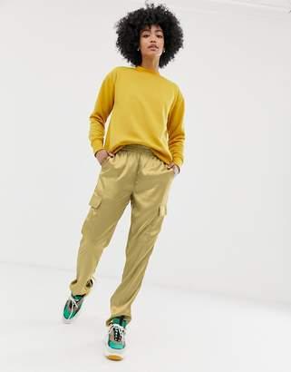 Noisy May satin utility pants