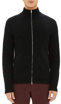 Theory Rovira Ribbed Merino Wool Zip-Front Cardigan