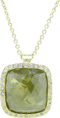 Todd Reed Green And Yellow Fancy Diamond Pendant Necklace