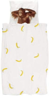 Snurk Banana Print Cotton Duvet Cover Set