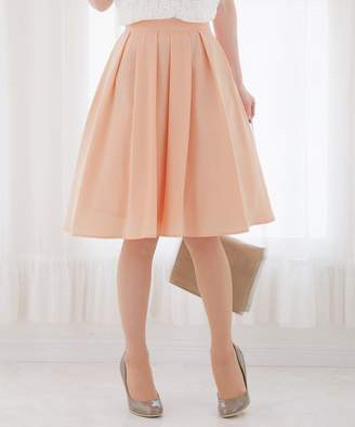Tiaclasse (ティアクラッセ) - Tiaclasse 上品丈が嬉しい、ふんわり軽やかなミディアム丈フレアスカート(C)FDB