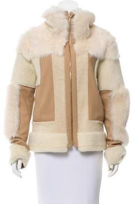 Chloé Short Shearling Coat w/ Tags