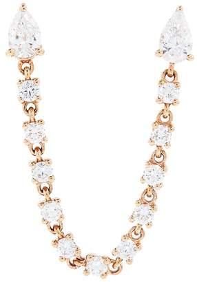 Anita Ko Rose Gold and Diamond Double Piercing Loop Earring