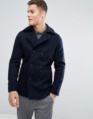 ONLY & SONS Wool Peacoat