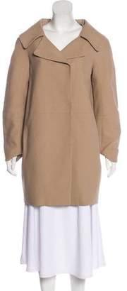 Paule Ka Notch-Lapel Knee-Length Coat