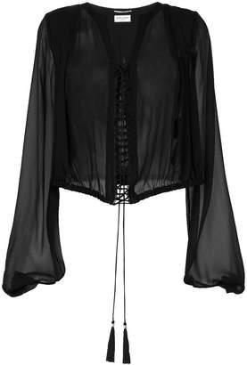 Saint Laurent lace-up blouse
